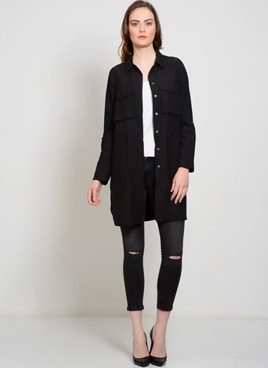 Vero Moda Vero Moda 10148815 Polyester Normal Kesim Kadın Ceket Siyah